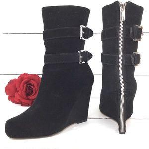 Michael Kors Wedge Suede boots